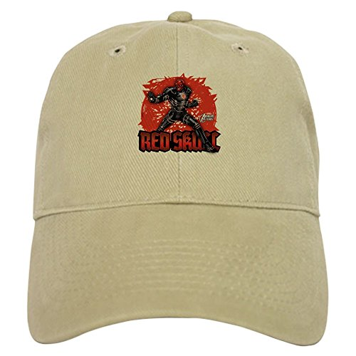 (CafePress Red Skull - Baseball Cap with Adjustable Closure, Unique Printed Baseball Hat)