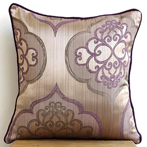 - The HomeCentric Luxury Purple Euro Pillow Shams, 26
