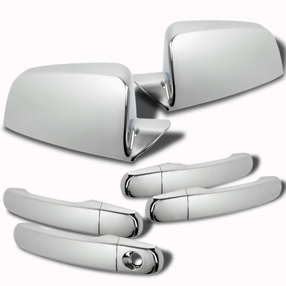 runmade Chrome Door Handle Cover Trim For 2005-2015 Chevrolet Equinox ;2006-2011 Chevy HHR; 2008-2012 Chevy Malibu; 2009-2015 Chevy Traverse; 2007-2015 GMC Acadia; 2010-2015 GMC Terrain 4-Door Sedan