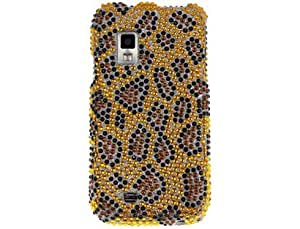 Hard Diamond Design Phone Protector Case Gold and Black Leopard For Samsung Fascinate Mesmerize