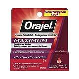Orajel Maximum Strength Toothache Pain Relief Liquid, 13-ml