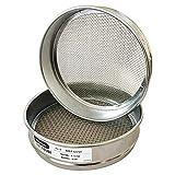 "KimLab Economy Test Sieve #10 / 2mm Mesh Size,304 Stainless Steel Wire Cloth, Chorme Plating Frame, 8"" Diameter Sieve"