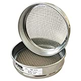 "KimLab Economy Test Sieve #4/4.75mm Mesh Size,304 Stainless Steel Wire Cloth, Chorme Plating Frame, 8"" Diameter Sieve"