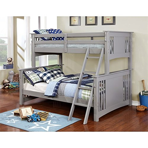 wooden bunkbeds twin over full - 5