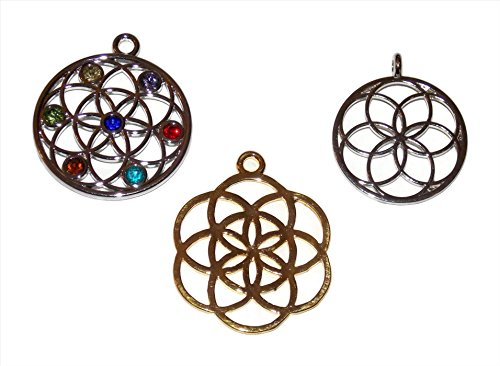 Flower of Life Jewelry Making Charms Pack of 3 Mixed Charms from...