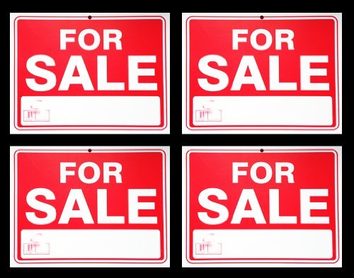 for Sale Sign 9 x 12 Inch - 4 Pack (Best For Sale Signs)