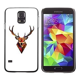 MEIMEIGagaDesign Phone Accessories: Hard Case Cover for Samsung Galaxy S5 - Minimalist Polygon Antlers DeerMEIMEI