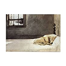 "CafePress - Yellow Lab Wallet Andrew Wyeth Co - Rectangle Magnet, 2""x3"" Refrigerator Magnet"