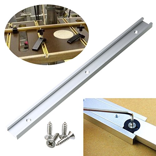 400mm T-Track Miter Jig Fixture Slot for Drill Press Router Table Band Saw and Woodworking Tool Table (15.7in)