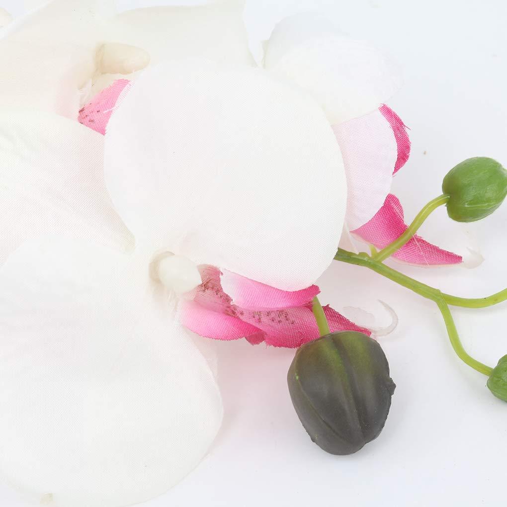Censhaorme Seda Artificial orqu/ídea Phalaenopsis Flor del Tallo del Ramo de la Fiesta en casa decoraci/ón de jard/ín