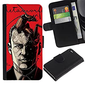 All Phone Most Case / Oferta Especial Cáscara Funda de cuero Monedero Cubierta de proteccion Caso / Wallet Case for Apple Iphone 4 / 4S // Metamorphosis Book Kafka Reading