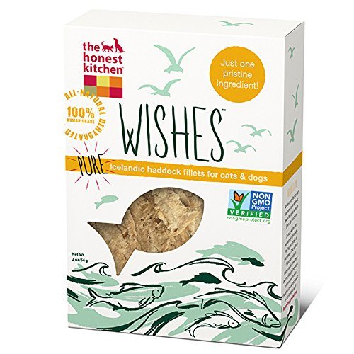 The Honest Kitchen Wishes: Natural Human Grade Dehydrated Grain Free Fish Filets, Treats for Dogs and Cats, 2 oz