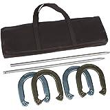 Trademark Innovations Pro Horseshoe Set - Powder Coated Steel