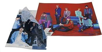 Bts Kpop Posters Big Pictures with 1 School Folder, 1 Sticker