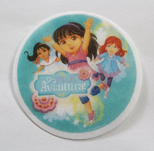 Dora And Friends Cake (Dora and Friends Aventura! Edible Wafer Cupcake/Cookie Toppers Licensed by Decopac ~ Pre Cut 2 1/2