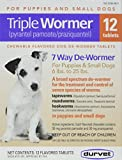 DURVET 12-Pack Triple Wormer Tablets for Puppies and Small Dogs
