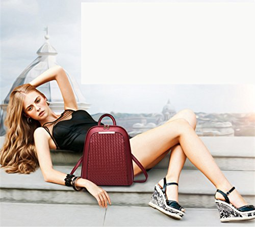 Travel Backpack Outdoors Leather Style Girls Purse Simple School Faux Women's Casual Bag Golden SILI For Bag tPq0wAxt