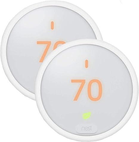 White w//Base Learning Smart   C T4000ES FULL KIT: Google Nest Thermostat E