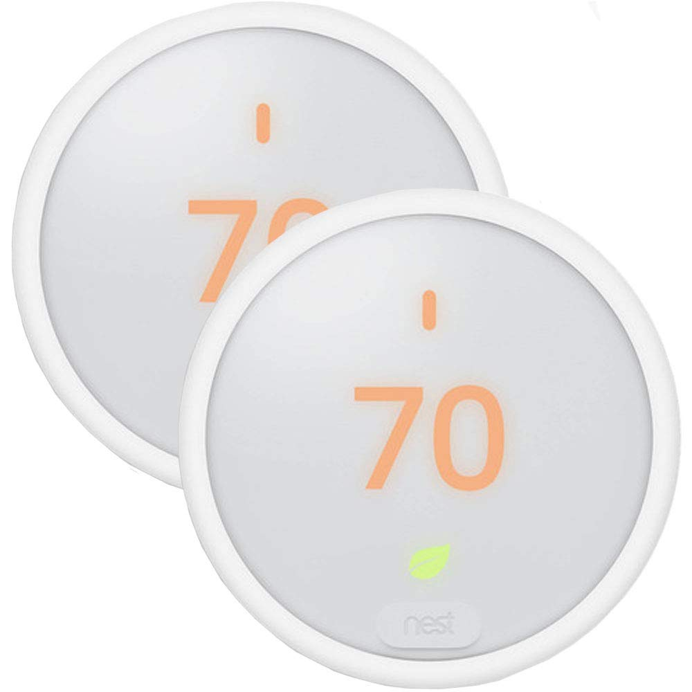 2 Pack Home Thermostat - T4000ES Learning Thermostat E - White