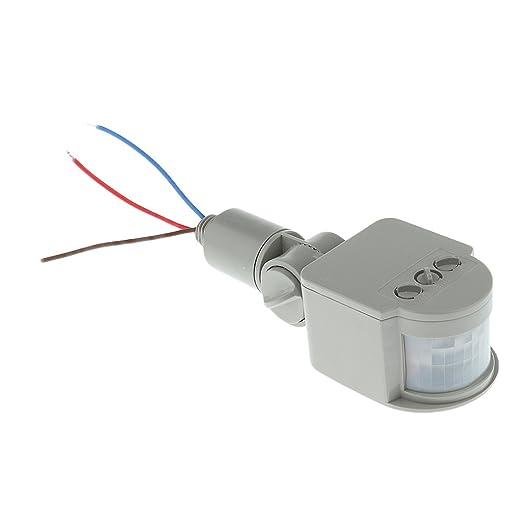 12m PIR Detector Sensor de Movimiento Por Infrarrojos Luz Al Aire Libre Rf AC85V ~ 265V Gris: Amazon.es: Bricolaje y herramientas