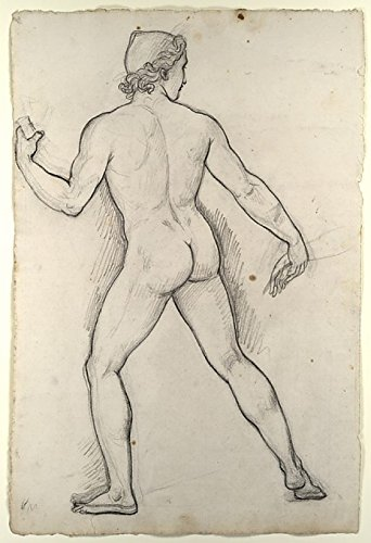 Male Nude Study for Castor and Pollux Freeing Helen Poster Print by Joseph-Ferdinand Lancrenon (French 1794-1874) (18 x 24)