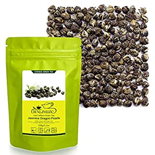 LWXLJMJZC-100g/3.53oz Jasmine Dragon Pearls Tea-Loose Leaf Green Tea with Pleasant Jamsine Aroma and Tonic Effect