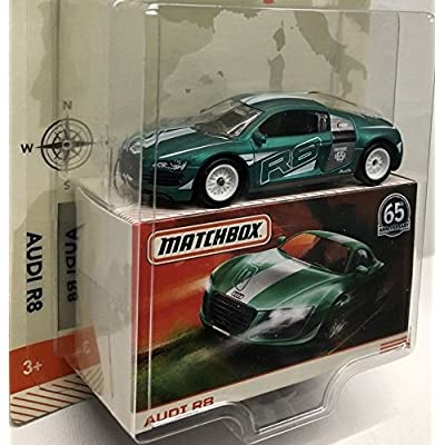 MATCHBOX GLOBE TRAVELERS GREEN AUDI R8 65TH ANNIVERSARY: Toys & Games