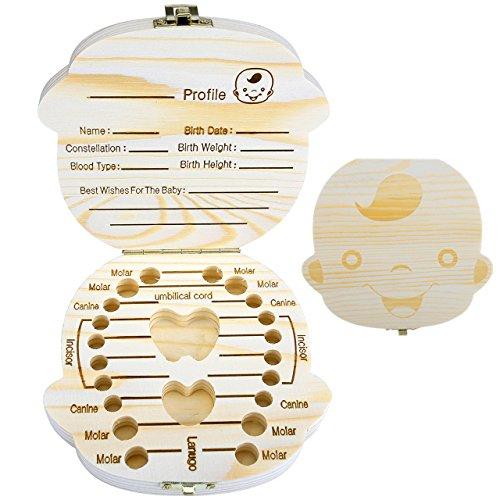 Prinzessin Mogoko baby Kinder Original Holz Haar Farbig Milchzahndose Milchz/ähne Z/ähne box Kasten mit Englisch Text Souvenir Aufbewahrungsbox Niedlich S/ü/ß Karton Pattern