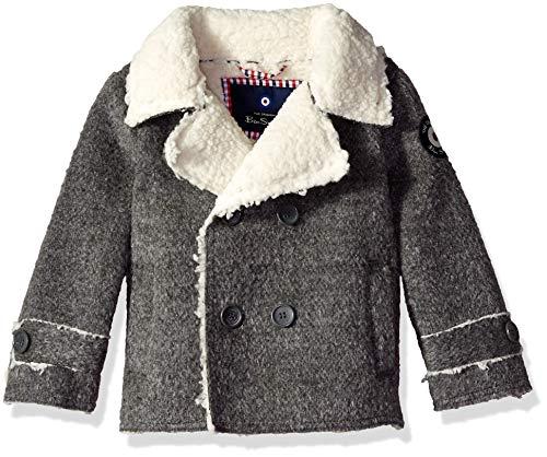 - Ben Sherman Boys' Toddler Faux Wool Coat, Heather Charcoal, 2T