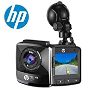 """#LightningDeal 92% claimed: HP Dash Cam Car DVR Vehicle Dashboard Camera Recorder with Full HD 1080P,2.4"""" LCD,G-Sensor, Night Vision, WDR, Parking Guard, Loop Recording?invisible"""