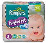 PAMPERS Active Fit nappies (size 3 midi 4-9 kg) - 1 Economy pack containing 204 nappies by SIL