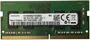 Samsung 4GB PC4-19200 DDR4-2400MHz non-ECC Unbuffered CL17 260-Pin SoDimm Memory Module Mfr P/N M471A5244CB0-CRC