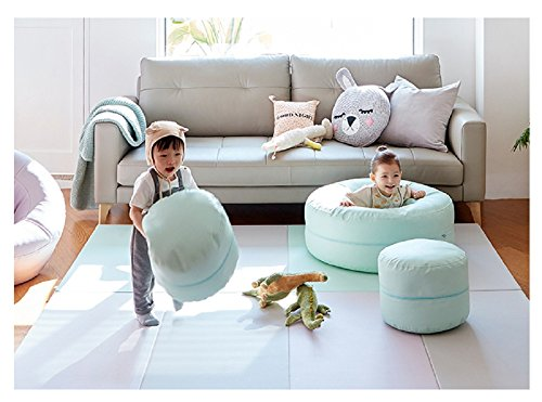 iloom Soft Donut Infant Kids Children Sofa Aqua Blue by i-loom