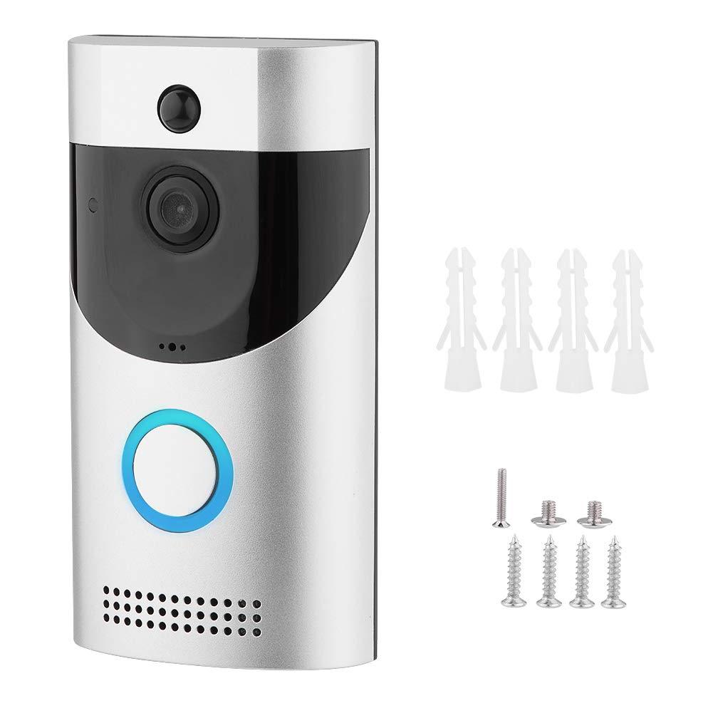 Zetiling Wireless Doorbell, WiFi Intelligent Door Viewer Visual Intercom Night Viewer Door Bell Suitable for Home Hotel Apartment