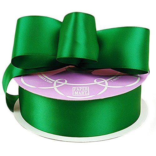 "Emerald Green Double Face Satin Ribbon, 1-1/2"" X 50Yd"