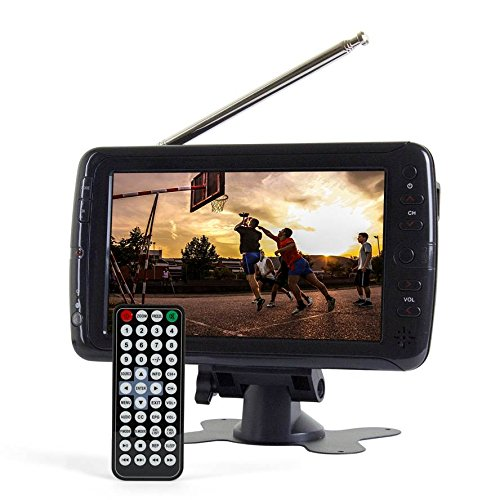 Tyler TTV701 7' Portable Widescreen LCD TV with Detachable Antennas, USB/SD Card Slot, Built in Digital Tuner, and AV Inputs