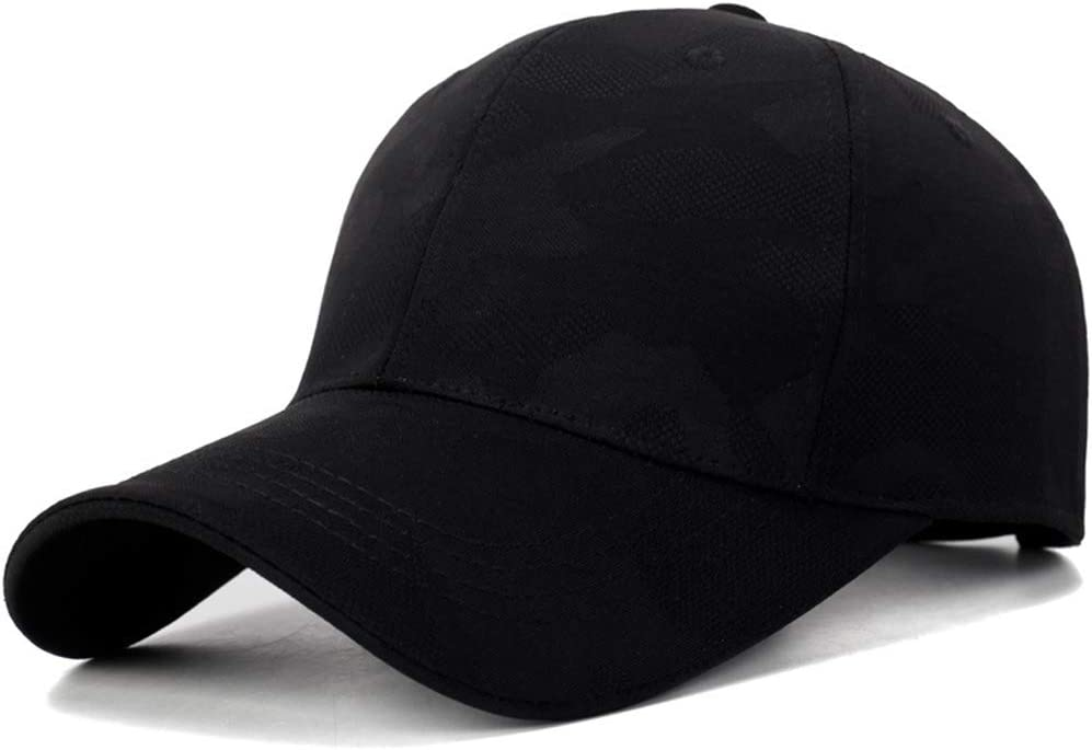 Plain Cotton Sun Protection Cap for Men HANYF Casual and Comfortable Baseball Cap Black,Darkgray Worn Daily Outside