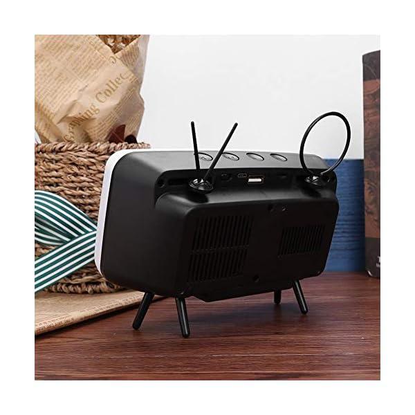 Domybest Enceinte Bluetooth Portable Mini Haut-Parleur Bluetooth Support de Téléphone de Forme TV Rétro Lecteur de Musique Sound Box Bluetooth Portable sans Fil 7