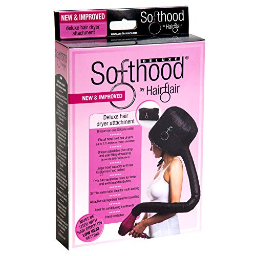 - Bonnet Hood Hair Dryer Attachment Hair Flair Deluxe Softhood (Black)