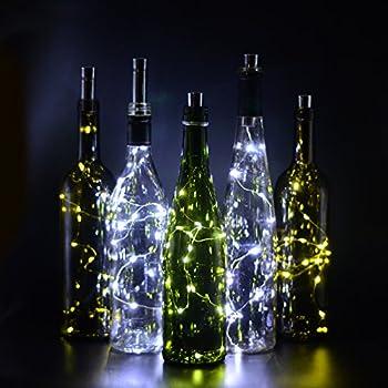 Amazon.com: Wine Bottle Lights with Cork, iGopeaks 4 Pcs Fairy String Lights Cork Lights for ...