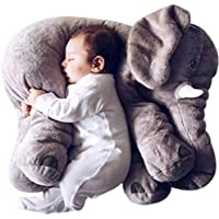 (60CM, Grey) - Rainbow Unicorn Cute Elephant Soft Toys Animals Stuffed pillow Grey Elephant Plush Pillow Cute Baby Pillow Pals Cushion Plush Toy for Kids (60CM, Grey)