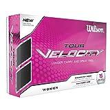 WILSON Tour Velocity - Pelota de Golf para Mujer (15 Unidades), Color Blanco