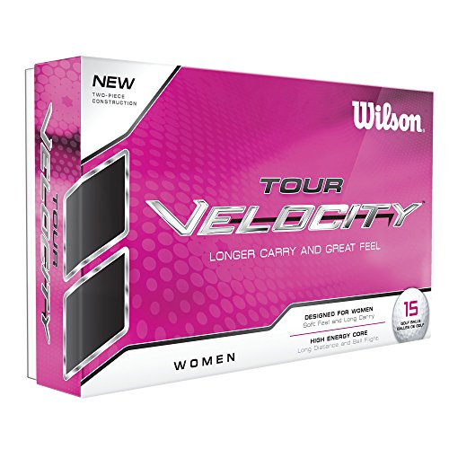 Wilson Women's Tour Velocity Golf Ball (15-Pack), White