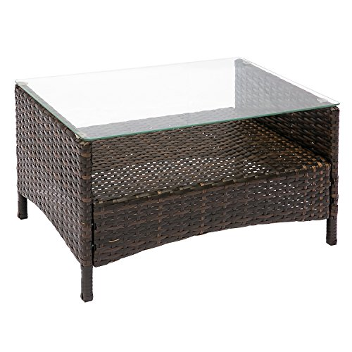 HANs Outdoor Rattan Furniture Sets 4PC Wicker Patio Furniture with Cushioned Seats by HANs (Image #4)