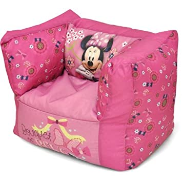 Amazoncom Minnie Mouse Square Bean Bag Chair Baby