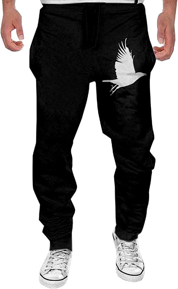 Yecx-1 Mens Flying Crow Sport Cotton Jogger Pants,Running Beam Trousers
