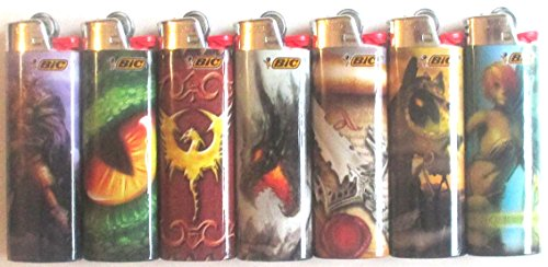 Bic Fantasy Series Lighters Lot of 7 by BIC