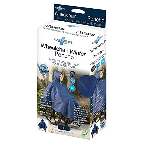 CareActive Wheelchair Winter Poncho, Navy by Active Care