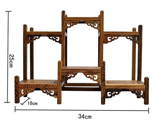NWFashion Chinese Wooden Assemble Display Stand Symmetric Short Floor Curio Cabinets Shelf (1)