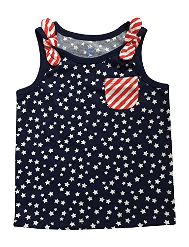 Patriotic Tanks Toddler Girls Tank Tops Stars and Stripes 3T - Of Fourth Top Tank July